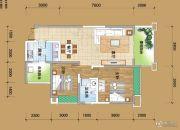 丽雅阳光半岛2室2厅1卫88平方米户型图