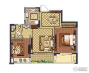 融创常州御园2室2厅1卫84平方米户型图