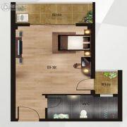 中南明珠1室1厅1卫43平方米户型图