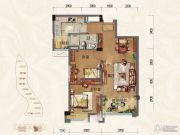 淄博碧桂园2室2厅1卫89平方米户型图