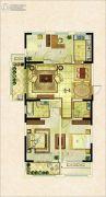 银座・东城丽景3室2厅2卫0平方米户型图