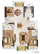 华启金悦府3室3厅3卫142平方米户型图