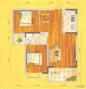 庄仪橡树湾2室2厅1卫99平方米户型图