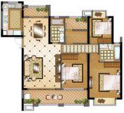 华强城4室2厅2卫140平方米户型图