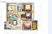 成都ICC凯旋门3室2厅2卫135平方米户型图