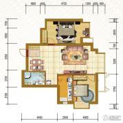 仁恒国际领寓2室2厅1卫99平方米户型图