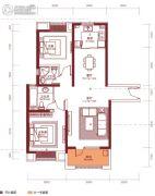 汉阳人信汇・ME TOO公馆2室2厅2卫105平方米户型图