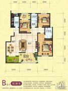 梦幻谷・�|方�A府3室2厅2卫141平方米户型图