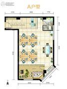 迎泽世纪城2室2厅1卫81--82平方米户型图