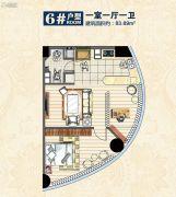 惠丰广场1室1厅1卫83平方米户型图