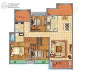 万达广场3室2厅2卫139平方米户型图