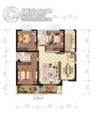 辰宇世纪城3室2厅2卫121平方米户型图