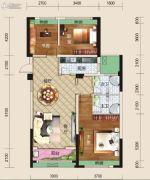 亿家龙景名都3室2厅2卫130平方米户型图