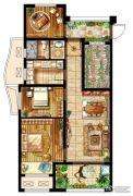 新城乐天街4室1厅1卫84平方米户型图