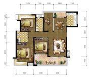 东城温泉里4室2厅2卫128平方米户型图