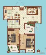 祝福红城2室1厅1卫88平方米户型图
