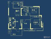 山水檀溪・山水家园3室3厅1卫100平方米户型图