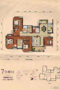 勤诚达22世纪4室2厅3卫174平方米户型图