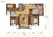 碧桂园・天汇3室2厅2卫121平方米户型图