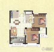 香榭一品2室2厅1卫87平方米户型图