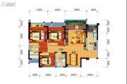 远大中央公园3室2厅2卫99平方米户型图