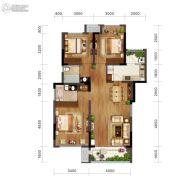 金科博翠园2室2厅0卫86平方米户型图