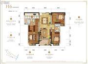 万科银海泊岸3室2厅2卫117平方米户型图
