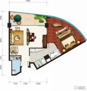 昌建逸海国际广场1室1厅1卫93平方米户型图