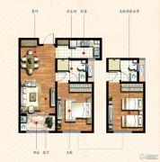 九洲金东方1室2厅1卫85平方米户型图