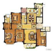 青林湾8期4室2厅3卫220平方米户型图