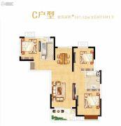 光明上海府邸3室2厅1卫107平方米户型图