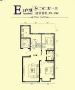 鑫大成・御龙湾2室2厅1卫97平方米户型图
