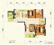 中建宜城春晓3室2厅1卫105平方米户型图