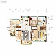 碧桂园玺悦4室2厅2卫113平方米户型图