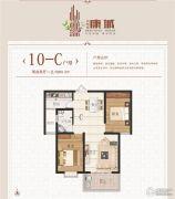 金海源・康城2室2厅1卫83平方米户型图