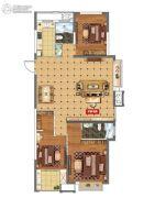 上城印象3室2厅2卫125平方米户型图