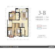 外滩名著3室2厅2卫0平方米户型图