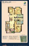 荣盛・锦绣外滩3室2厅1卫120平方米户型图