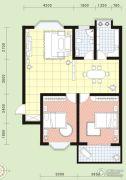 祥安花园2室2厅1卫91平方米户型图