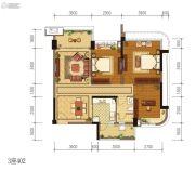雅居乐新城湾畔3室2厅1卫101平方米户型图