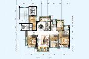 碧桂园・星钻3室2厅2卫118--120平方米户型图
