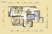 汇川喜来公社2室2厅1卫82平方米户型图