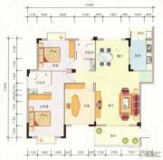 百丰花园3室2厅2卫129平方米户型图