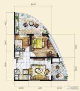 长岛蓝湾2室1厅1卫97平方米户型图