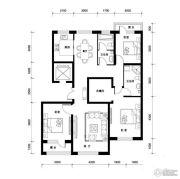 汉森香榭里3室2厅2卫140平方米户型图