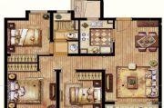 保利翡丽公馆3室2厅1卫91平方米户型图