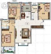 华瑞紫韵城3室2厅2卫137平方米户型图