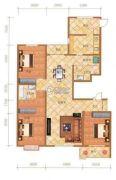 檀香湾3室2厅2卫185平方米户型图