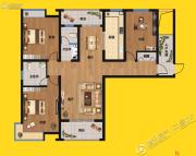 尚景园3室2厅2卫148平方米户型图