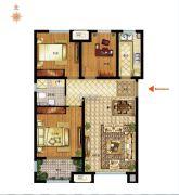 社会山西苑3室2厅1卫99平方米户型图